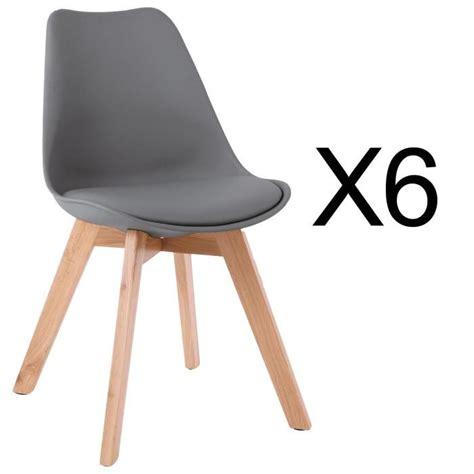 chaise pas cher par 6 chaises scandinaves lot de 6 achat vente chaises
