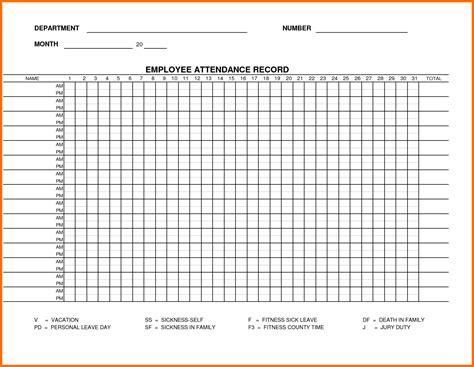 attendance sheet template exle mughals