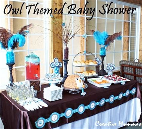 creative mommas owl themed baby shower