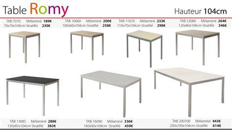 hauteur table cuisine table cuisine hauteur