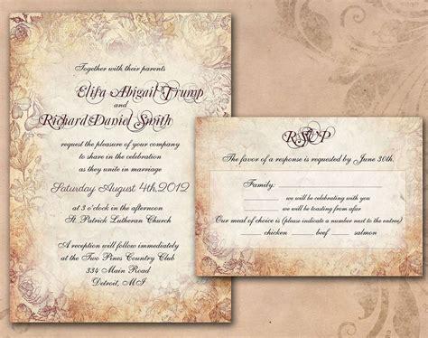 diy printable invitations vintage wedding cleveland