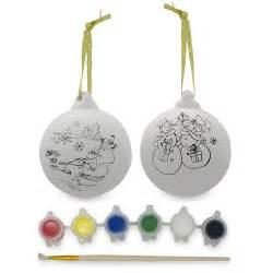 set of 2 blank unpainted christmas ball ornaments santa