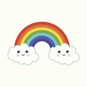 rainbow and cloud clipart - Clipground
