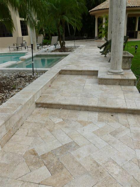 patios pools driveways inc travertine pavers