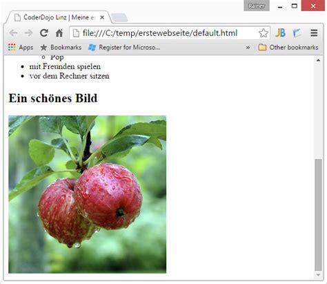 CoderDojo Linz  HTML Meine erste Webseite