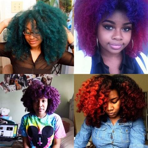 natural youtubers  rock vivid color natural hair