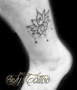 Fleur Lotus Tatouage : tatouage cheville femme fleur de lotus avec perles et ~ Mglfilm.com Idées de Décoration