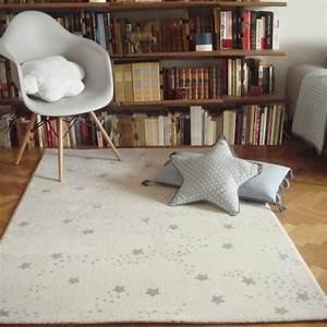 Tapis Chambre Enfant : tapis chambre de b b constellation gris ~ Teatrodelosmanantiales.com Idées de Décoration