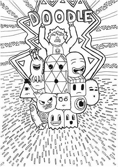 Doodle Kawaii Coloriage Coloriages Dessin Colorier Doodling