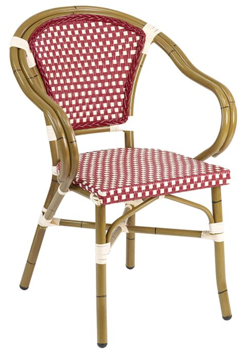 rattan outdoor bistro arm chair