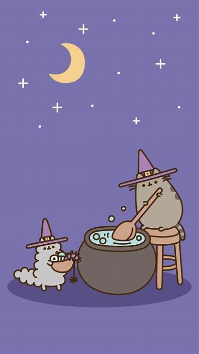 Pusheen Halloween Cat Witch Kawaii Wallpapers Pip
