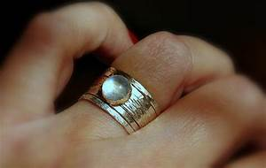 simone unique rustic stackable moonstone wedding ring With unique stackable wedding rings