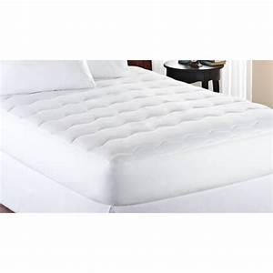 mainstays extra thick 1quot mattress pad white ebay With best thick mattress topper