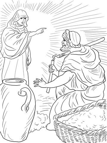 gods angel called gideon coloring page  printable