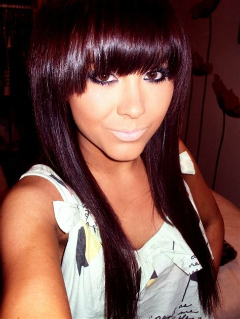 Darkest Hair Color by Brown Violet Hair Color Think I Look Asian Here S