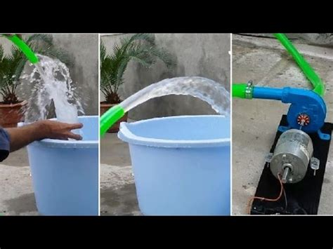 how to make a small water how to make a super powerful small water pump 15ft pumping youtube