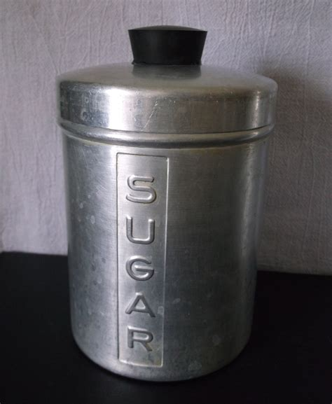 kitchen canisters vintage metal kitchen canisters aluminum flour sugar