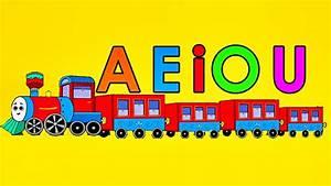 El Tren De Las Vocales Canción Infantil a e i o u Videos Educativos Para Niños