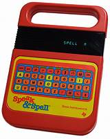 Vintage computer spelling toy