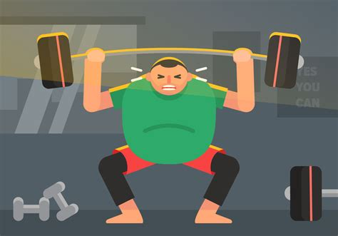foto de Vector Fat Guy in The Gym Download Free Vectors Clipart