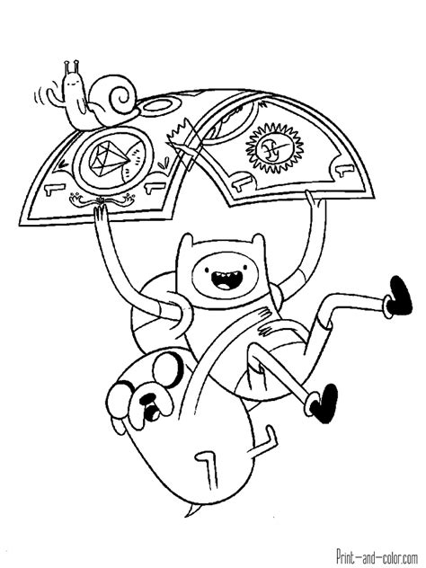 Coloring Time adventure time coloring pages print and color