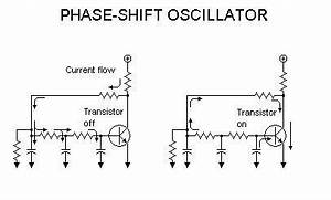 the power grid oscillator With transistor phase shift oscillator