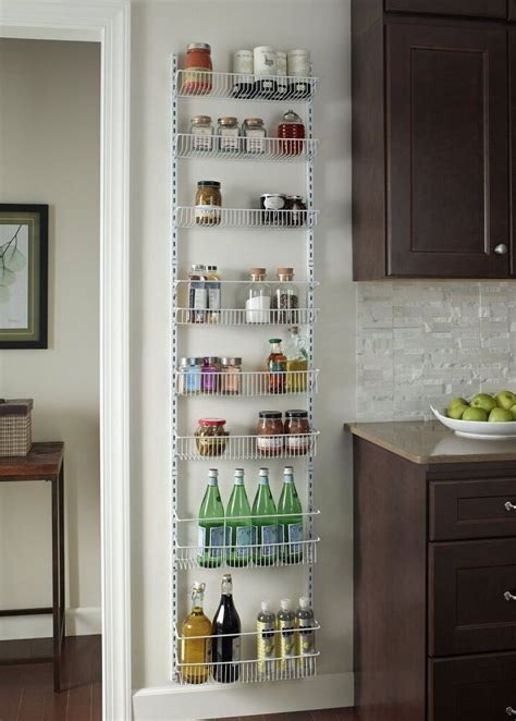 Door Spice Rack Organizer by Door Basket Rack Storage Shelf Kitchen Pantry