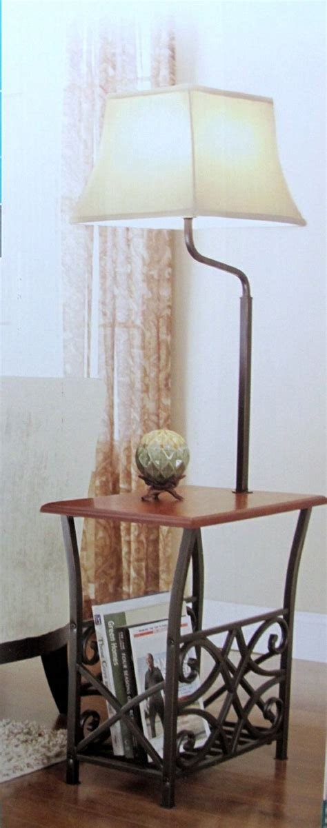 end table with attached l and magazine rack end table with attached l and magazine rack
