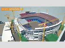 Video Cómo se construirá el nuevo Camp Nou sin detener su