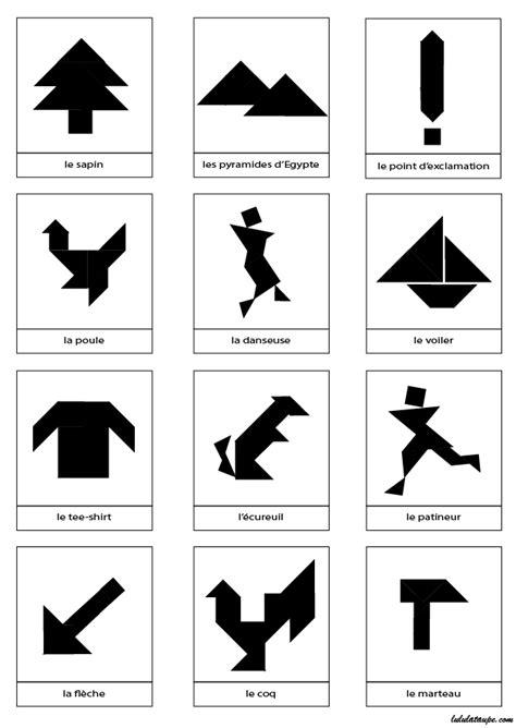 silhouettes de dessins pour tangram  imprimer lulu la