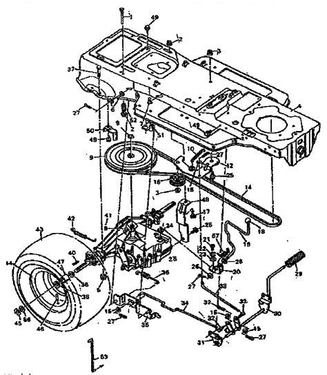 Sears Garden Tractor Parts by Craftsman Lawn Mower Parts Diagram Wiring Diagram