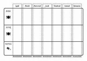 Les 4 Temps Horaires : menus de la semaine imprimer plannings vierges pdf ~ Dailycaller-alerts.com Idées de Décoration