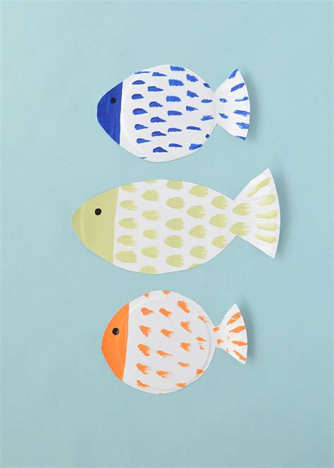 painted paper plate fish handmade charlotte