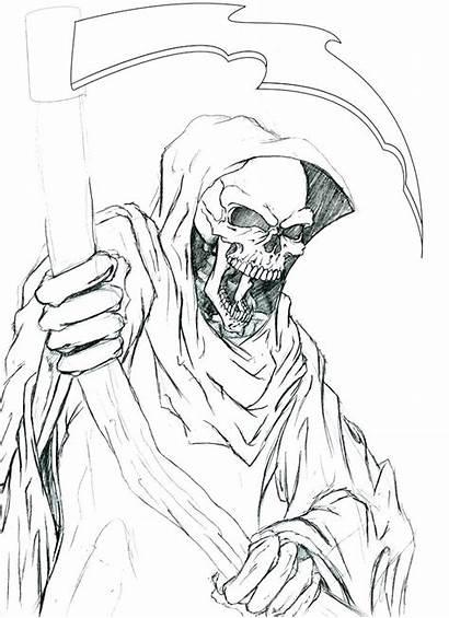 Coloring Reaper Grim Evil Pages Printable Getcolorings