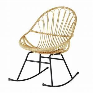 Rocking Chair Maison Du Monde : rattan rocking chair petunia maisons du monde ~ Teatrodelosmanantiales.com Idées de Décoration