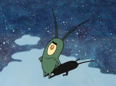 Plankton Original Spongebob Animation Cel Background