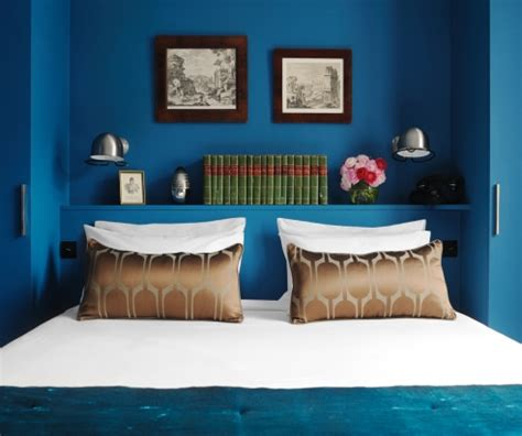 chambre en bleu décoration chambre bleu