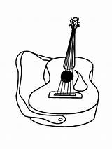 Coloring Instruments Musical Instrument Violin Colouring Guitar Clipart Kleurplaten Mandolin Irish Cliparts Acoustic Names Library Printable Drawing Mycoloring Line Muziekinstrumenten sketch template