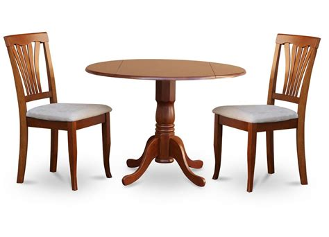 2 seat table set 3pc kitchen dinette set round 42 quot table 2 wood seat