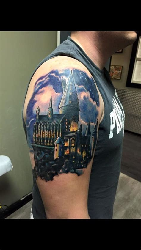 beginning   harry potter sleeve hogwarts castle