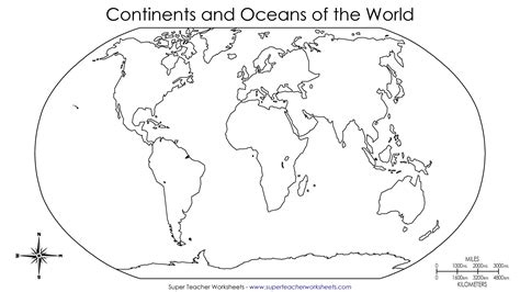 continents and oceans of the world worksheet continents of the world worksheets this basic world map