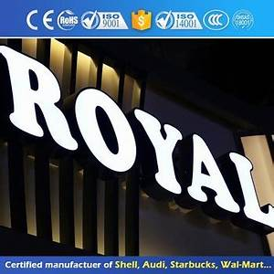 outdoor business shop logo display acrylic 3d light box With display letters to buy