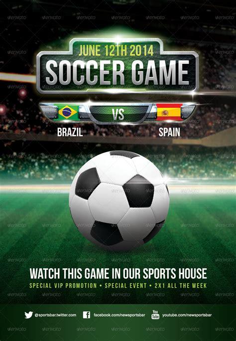 soccer game poster  joedshow graphicriver