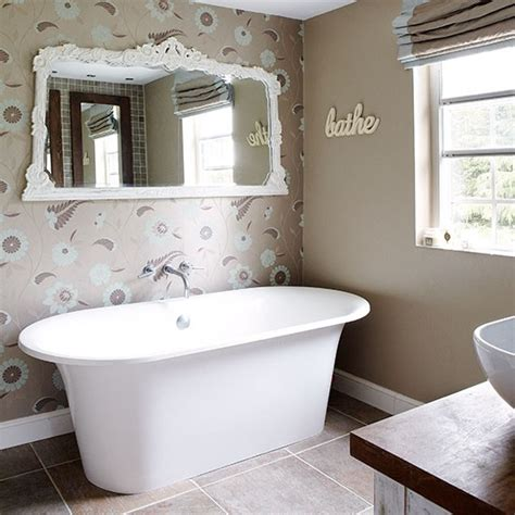 bathroom wallpaper ideas uk ensuite bathroom step inside this gorgeous hertfordshire barn housetohome co uk