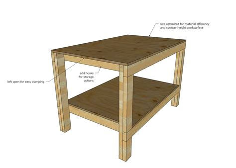 ana white build  easy diy garage workshop workbench