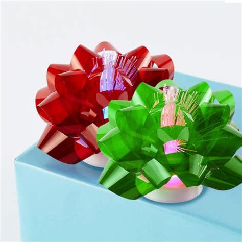 led light up presents 5 pack fiber optic led light up glowing gift bows ebay