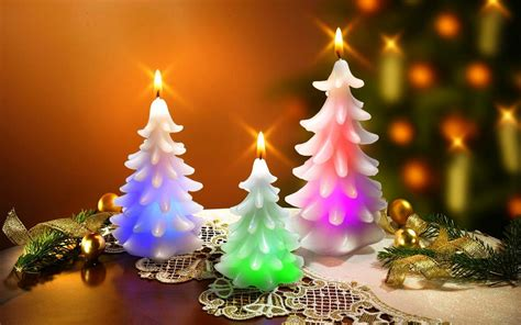 christmas tree candles wallpaper 24713