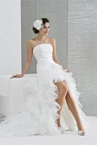 Robe De Mariee Courte : robe de mari e p tillante et dynamique elle est pleine de malice avec sa jupe d 39 organza l g re ~ Preciouscoupons.com Idées de Décoration