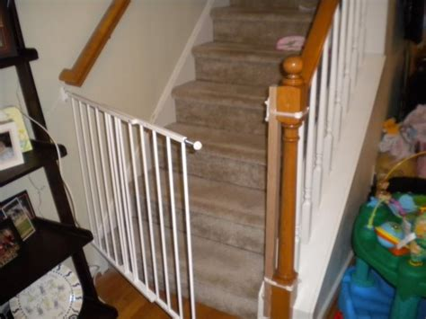 Baby Gate For Stairs With Banister And Wall by Diy Baby Gates For Stairs White Wooden Home Inspiring