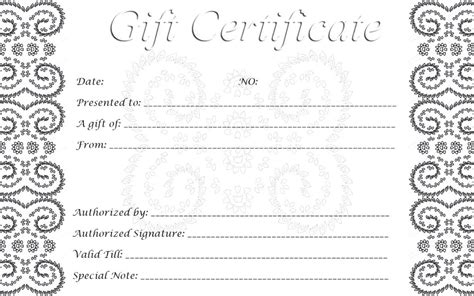 black and white gift certificate template free 28 cool printable gift certificates baby